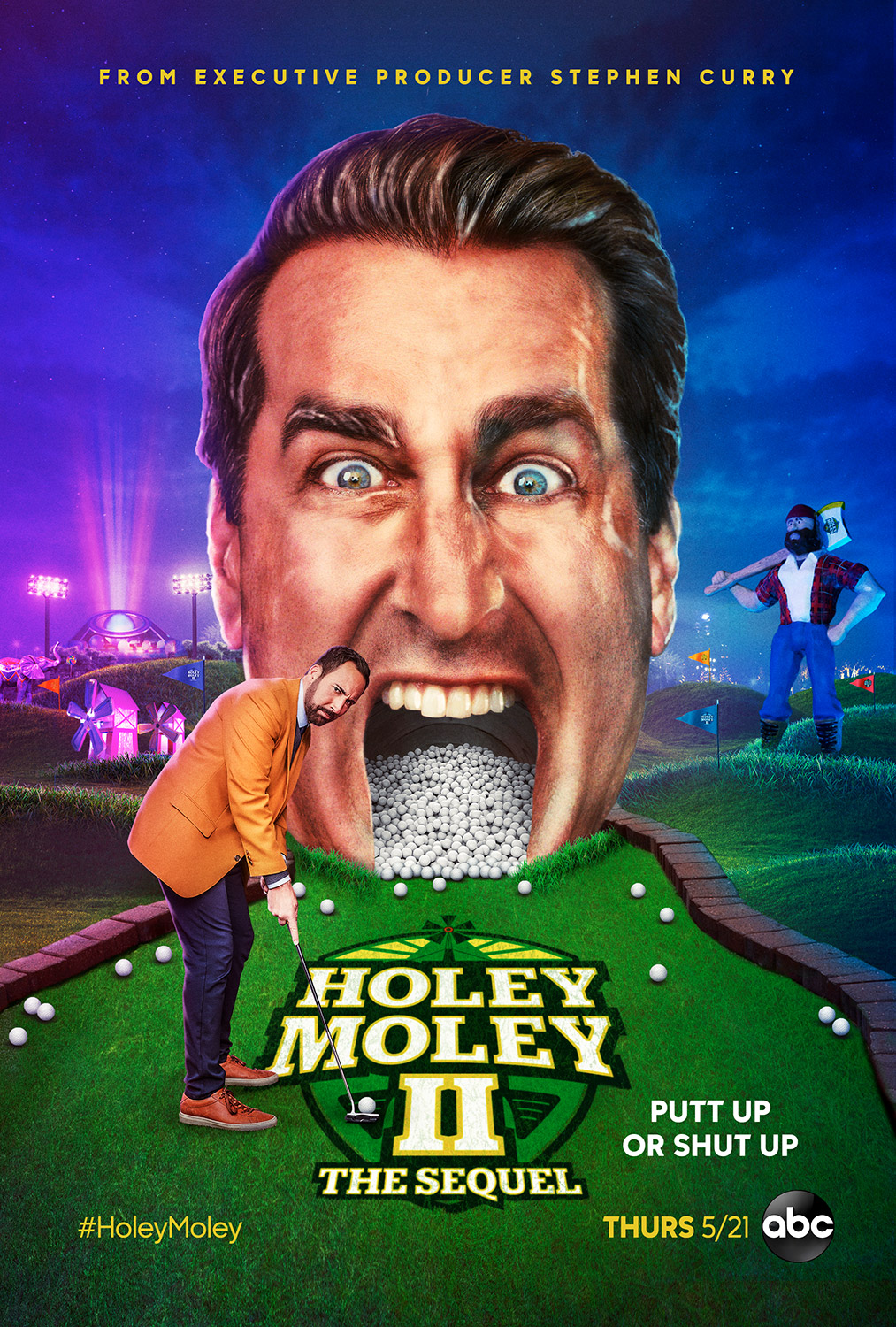 Holey Moley Season 2 Episode 3 - That Man Knows How to Ride a Weiner